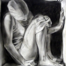 Boxed In, charcoal on paper