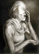 Speak No, charcoal on paper, Savannah College of Art and Design Collection