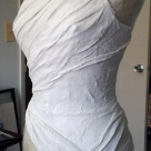 11.12.13: 3/4 view of my dress for Ms. Evelyn for the Ordinary Woman invitation exhibit.