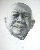 Felton, acrylic and graphite on claybord