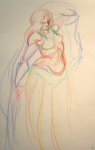 Drawing II/Life Drawing: Motion Study (Bellydancer)