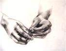 Drawing I: Hand Study (charcoal)