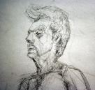 "Drawing II/Life Drawing: ""Planar"" Figure Study (Detail)"