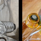 Left: Acrylic (left half), Oil (right half). Right: Color (medium of student's choice. In this instance, acrylic).