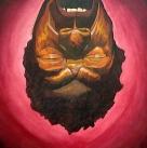Painting I: Self Portrait (Justin), acrylic on canvas